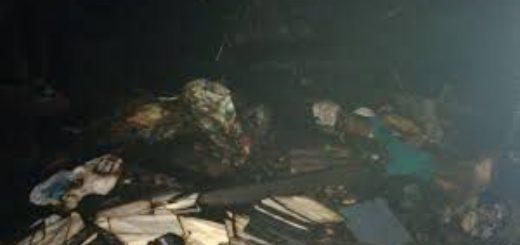Las llamas arrasaron con una casa en Libertad y un matrimonio y sus seis hijos perdieron todo