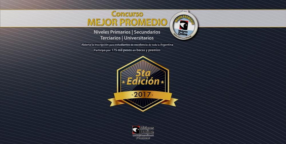 Con casi mil estudiantes con promedio 10 finalizó la inscripción para la 5ta edición del Concurso Mejor Promedio de Misiones Online