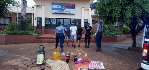Detuvieron a 4 boqueteros y recuperaron elementos robados en Oberá