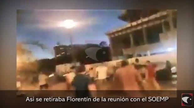 Posadas: así se retiraba Florentín de la reunión con los empleados municipales