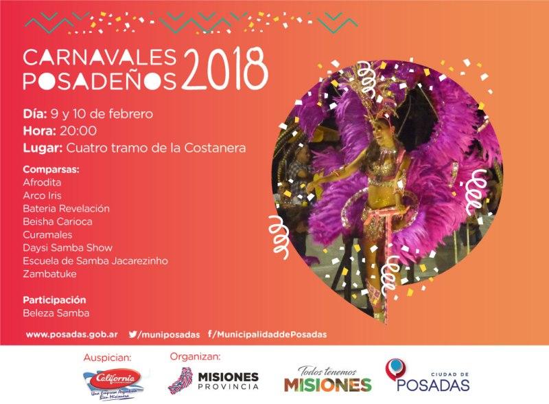 Posadas vive hoy su primera noche de Carnaval en la Costanera