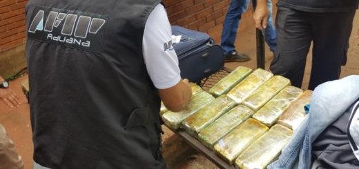 Quiso ingresar a Iguazú con 8 kilos de marihuana en la valija: preso