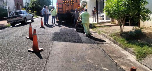 Posadas: el municipio realizó tareas de bacheo sobre la avenida Roca