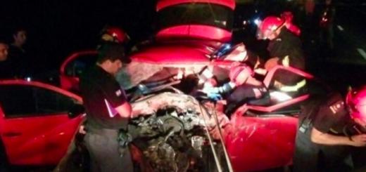 Ruta 12: Rescataron a un hombre tras quedar atrapado entre los hierros luego de un siniestro vial