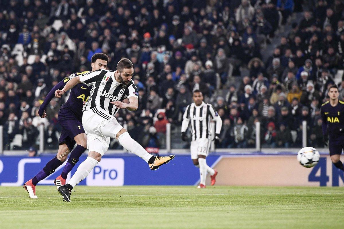 Champions League: Higuaín metió dos goles y erró un penal en el empate entre la Juventus y el Tottenham