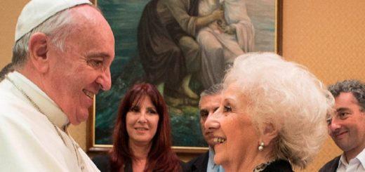 """Estela de Carlotto fue recibida por Francisco: """"Está preocupado por Argentina"""""""
