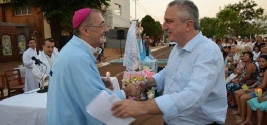 Passalacqua participó de la misa en honor a Nuestra Señora de la Candelaria