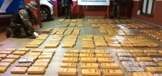 Prefectura secuestró más de 290 kilos de droga oculta entre la vegetación en Corpus