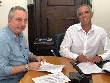Passalacqua firmó convenios con Nación para obras por cien millones de pesos