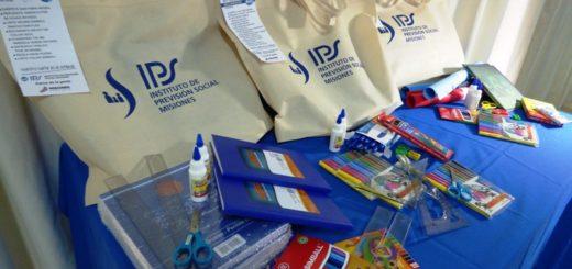 Passalacqua anunció una nueva entrega de útiles escolares para hijos de afiliados del IPS
