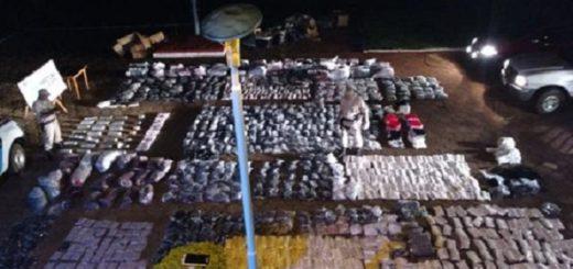 Iguazú: Prefectura incautó más de veinte kilos de marihuana y 140.000 pesos en mercadería de contrabando