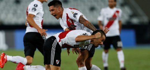 Con un golazo en el final, River rescató un empate en Brasil