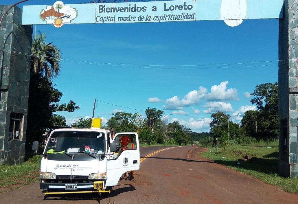 Vialidad realizó la demarcación horizontal en accesos a ruinas de Santa Ana y Loreto