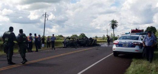 Siete personas murieron calcinadas tras un grave accidente en Fachinal: entre los fallecidos habría dos niños