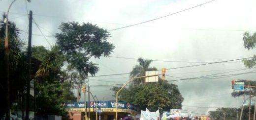 En Eldorado: camioneros trabajaron pero hubo manifestaciones de agrupaciones