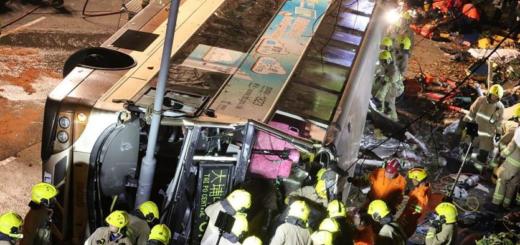 45 muertos por violentos accidentes de micros en Hong Kong e Indonesia