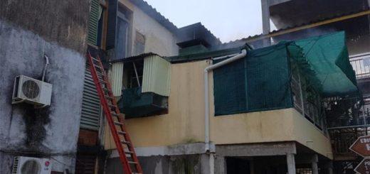 Extinguen un incendio en un departamento de la chacra 150