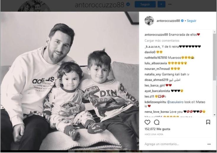 Mirá el tierno mensaje que dejó la esposa de Messi en el Día de los Enamorados