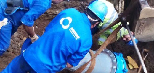 Hoy realizan trabajos en acueducto de zona sury se recomienda cuidar el agua en Posadas