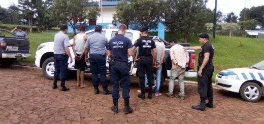 Peleaban entre ellos, pero se unieron al ver a la Policía: los cuatro terminaron presos