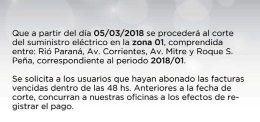 Desde EMSA informaron que a partir del lunes harán cortes por falta de pago en Posadas