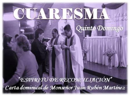 """Carta de monseñor Juan Rubén Martínez: """"Espíritu de reconciliación"""""""