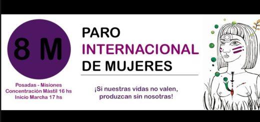 """8M: """"Hoy va a ser un día histórico para las mujeres"""", expresó una de las organizadoras de la marcha de mujeres en Posadas"""