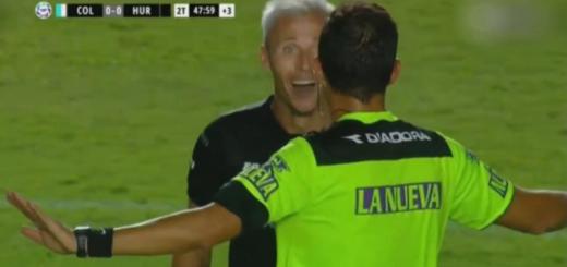 Polémica en la Superliga: Huracán metió un golazo de mitad de cancha ante Colón, pero el árbitro lo terminó antes