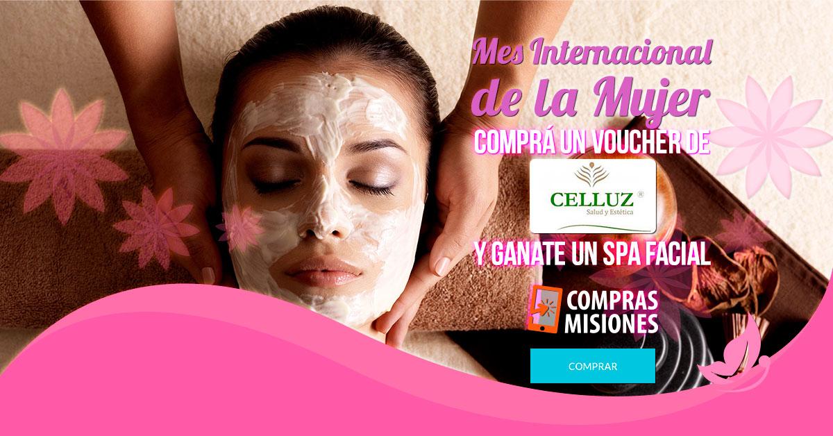 Mes de la Mujer en Compras Misiones: Inscribite en el concurso de Celluz y ganate un spa facial