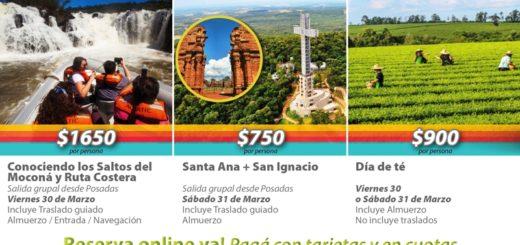 Para Semana Santa turismomisiones.com tiene varias propuestas con salidas en el día y desde Posadas