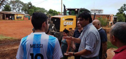 El municipio realizó tareas de limpieza y arreglo de calles las Dolores Sur y Villa Urquiza