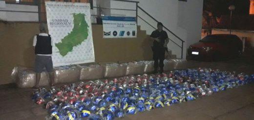 Iguazú: la Policía sorprendió a contrabandista con un furgón repleto de pelotas
