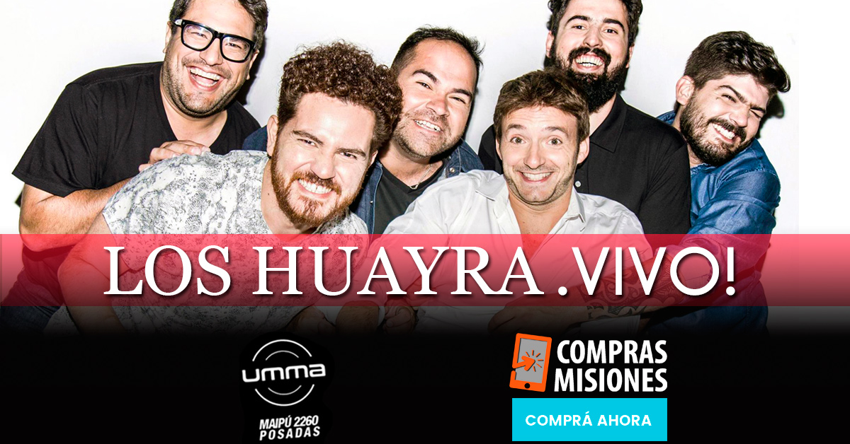 Este sábado el folklore de Los Huayra desembarca en Posadas…Adquirí ya las entradas en Compras Misiones