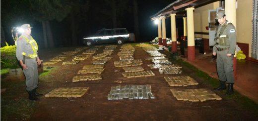 Nuevo golpe al narcotráfico: Decomisan más de 1.279 kilos de marihuana en Puerto Esperanza