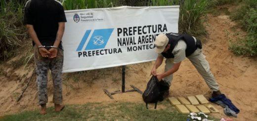 """Apresan a una """"mula"""" narco cerca de Montecarlo: llevaba marihuana desde el Paraguay"""