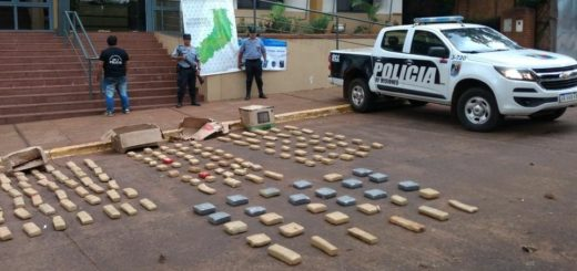 Narcolancheros en Iguazú: tras tiroteo en zona costera la Policía incautó 144 panes de marihuana y hay un detenido