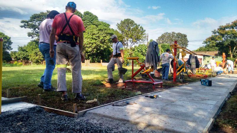 Presupuesto Participativo: avanzan las obras en la plaza del barrio Club Educación de Posadas