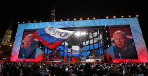 Resultados parciales dan a Vladímir Putin como ganador de las elecciones presidenciales rusas con más del 70% de los votos