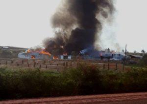 Incendio devastó un aserradero de Santo Tomé