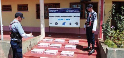 Contrabando: la Policía incautó 100 gruesas de cigarrillos en control vial en Aristóbulo del Valle