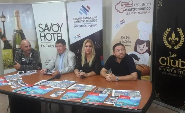 Todo listo para el III Congreso Binacional de Marketing Turístico y II Encuentro Gastronómico Jesuita Guaraní en Posadas y Encarnación