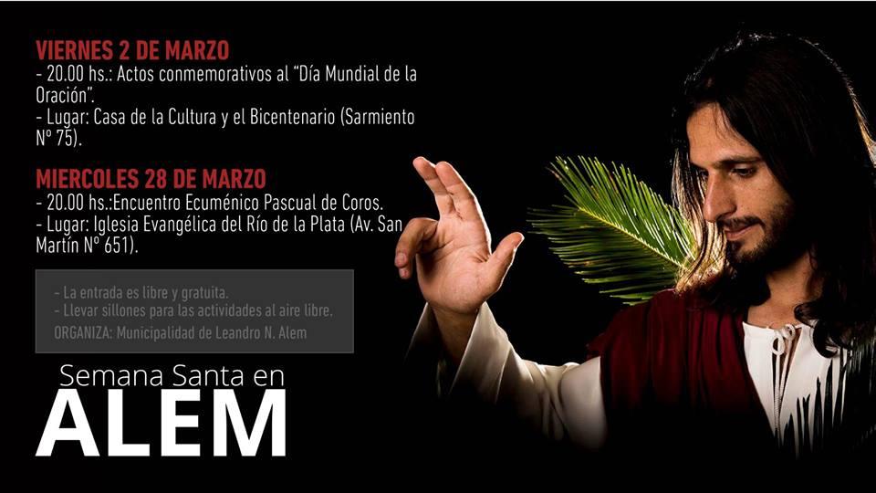 Todo listo para conmemorar la Semana Santa en Leandro N. Alem. Vea el Programa Completo