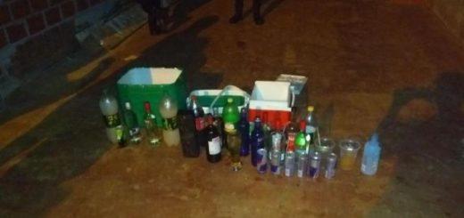 Detectan menores consumiendo alcohol en una fiesta en San Vicente: los organizadores fueron detenidos