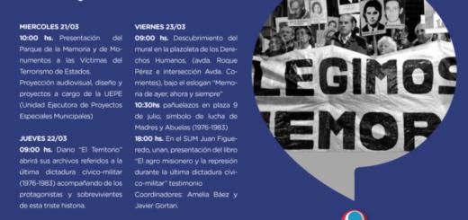 La Municipalidad de Posadas conmemorará la Semana de la Memoria, Verdad y Justicia con distintas actividades