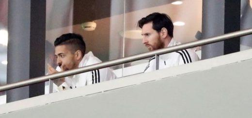 Papelón Mundial: Messi siguió el partido desde un palco y se fue antes de que se consumara la goleada