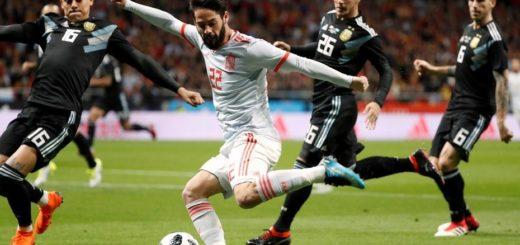 Sin Messi, Argentina cae con estrépito ante España en la última prueba de fuego antes del Mundial