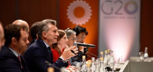 """Macri: """"Estamos fomentando el consenso y el diálogo en el G20"""""""