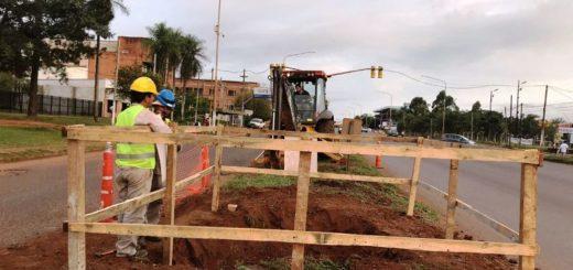 Se iniciaron las obras de la pasarela peatonal UNaM