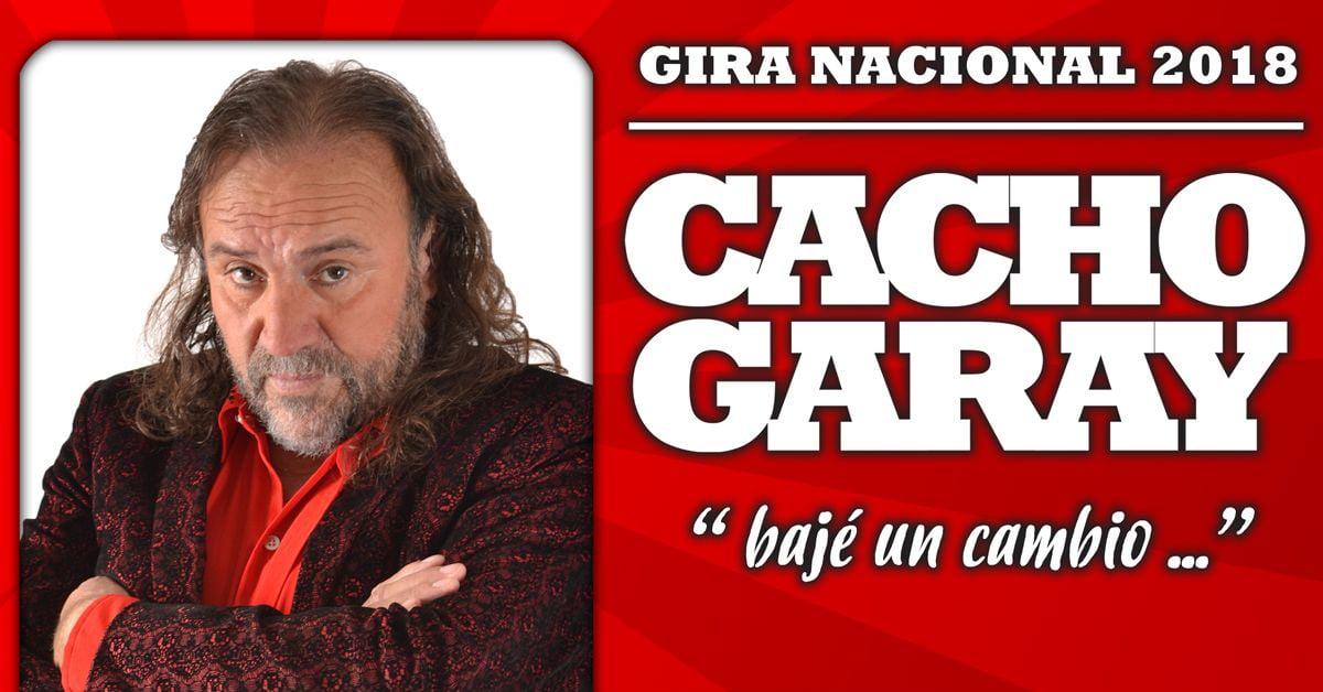 Mañana se presenta Cacho Garay en Posadas…Los integrantes de la Comunidad de Misiones Online que ganaron entradas son…