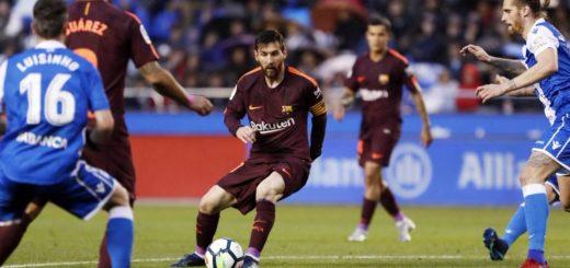 Con un triplete de Messi, el Barcelona venció al Deportivo La Coruña y se consagró campeón de La Liga